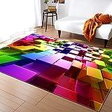 HSRG Rug 3D Bunt Weiche Einfache Stil Teppiche Für Wohnzimmer Schlafzimmer Weiche Fläche Teppich Haus Bodenmatte Kinderzimmer Dekorieren,#1,80X50inch
