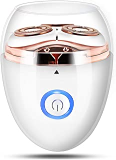 Facial Hair Removal for Women,3-float head Electric Razors for Lip/Chin/Cheeks & Neck,Ladies Painless Trimmer Rechargeable Waterproof Epilator-White