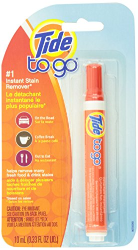 Tide to Go Instant Stain Remover Pen 1 Count, 0.33 Fl Oz, Iris