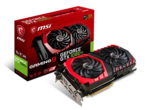MSI GTX 1080 TI 11GB GeForce GTX 1080 Ti 11GB GDDR5X Scheda grafica NVIDIA, GeForce GTX 1080 Ti,...