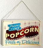 Kino Deko Popcorn Blechschild, 20 x 30 cm - 3
