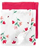 Carter's Baby Girls' 2-Pack Swaddle Blankets , Solid Pink , One Size
