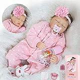 ZIYIUI 22 Pulgadas Reborn Baby Dolls Girls Real Silicona Vinilo Realista Recién Nacido 55cm Realista Baby Reborn Dolls para niños