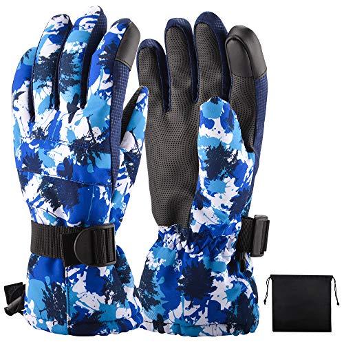 Ninonlyスキーグローブ スノーボードグローブ スキー手袋 スノーボード手袋 防水・透湿フィルム付 完全防水...