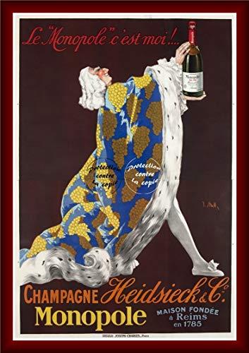 Herbé TM Champagner Monopol R1316 Poster/Kunstdruck, 40 x 60 cm * D1 Plakat, Vintage/Antik/Retro (BR*)