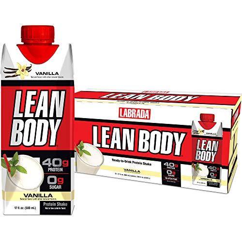 LABRADA - Lean Body Ready-to-Drink Whey Blend Vanilla Protein Shake,...