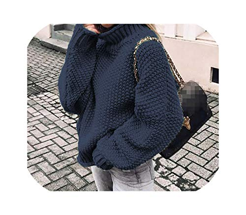 LinJiaJia_shop Oversize Turtlenhoek Knitted Sweater Winter Knitwear Plus Size Solid Casual Sweater