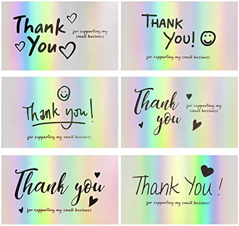 120Pcs Thank You Cards Small Business FZR Legend Mini 6 Styles Thank You for Supporting Cards product image
