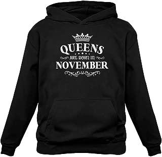 TeeStars - Birthday Gift for Women - Queens are Born in November Women Hoodie