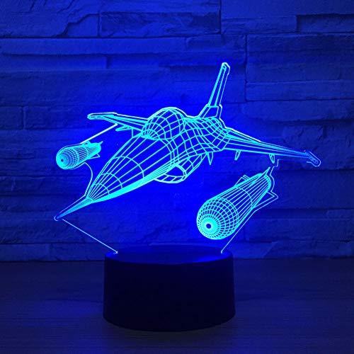 LPHMMD Nacht Licht Vliegende Schepen Vliegtuigen 3D Led Bureau Lamp 7 Kleuren veranderen Nachtlampje Kids Slaapkamer Nachtlampje Slaap Verlichting Home Decor Gift