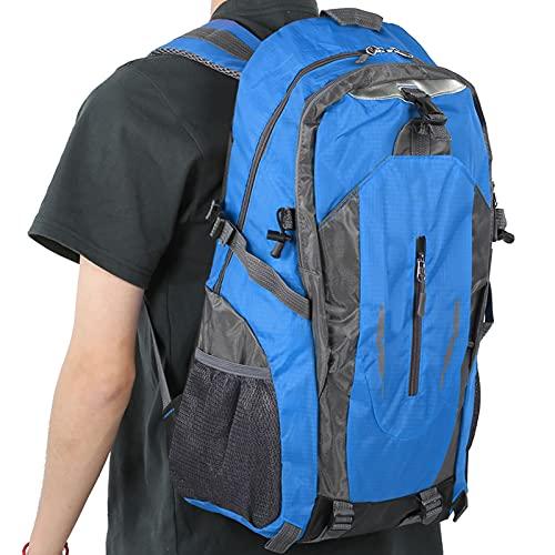 Dekaim Mochila impermeable de 40 l con correas ajustables para el hombro, para senderismo, escalada, camping, viajes, color azul