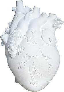 GEQIAN Bloemvazen Creatieve Planter Pot - Simulatie Hartvormige Vaas Hars Anatomisch Orgaan Bloempot Ornament voor Thuis H...