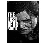 Ghychk The Last of Us Part 2 - Cuadro para pared (40,6 x 60,9 cm), diseño de juego de Ellie y Joel sobre lienzo, sin marco, listo para colgar