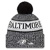 New Era Baltimore Ravens Black & White 2018 Sport Knit NFL Beanie, OSFM