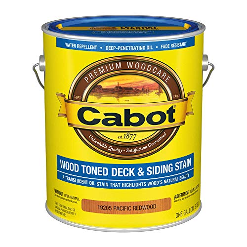 Cabot 140.0019205.007 Wood Toned Low VOC Deck & Siding Stain, Gallon, Pacific Redwood