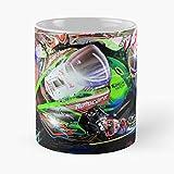 NGTHIUHAN Le Cars Sports 24 Wsbk Mans 1 Endurance Art Formula F1 Hours TT Racing Taza de café con Leche 11 oz