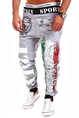MT Styles Trainingshose Italy Sporthose R-521 [Grau, XL]