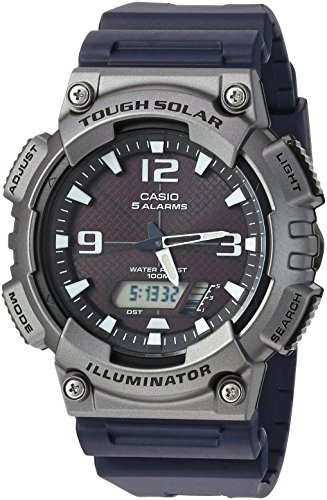 Casio Men's Tough (Solar Powered) Quartz Watch with Resin Strap, Black, 25 (Model: AQ-S810W-1A4VCF)