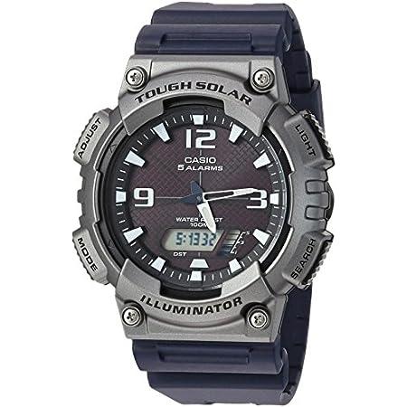 Casio watches Casio Men's Tough (Solar Powered) Quartz Watch with Resin Strap, Black, 25 (Model: AQ-S810W-1A4VCF)