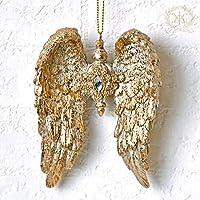 シャビーゴールドウィングオーナメント 2020クリスマス雑貨 ツリー飾り おしゃれ クラシック 天使の羽