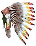 Kid/Children 2-5 Years: Three Colors Headdress| Native American Indian Inspired 20,5 inch – 53 cm