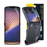 GOBUKEE Schutzfolie für Motorola Razr 5G 2020 Go-Flex TPU-Folie, kratzfest für Moto Razr 5G 2020 (4 Stück) [Kein panzerglas]