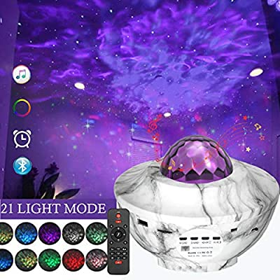 Star Projector Night Light, 3 in 1 Star Projector with LED Nebula Cloud Ocean Wave Projector Lights?Galaxy Projector Lights with Bluetooth Speaker for Adults and Baby Kids Party WeddingBedroom