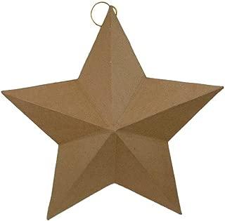 Craft Ped Paper CPL1004441 Mache Star Flat Back X-Large Kraft, 18