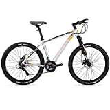 HXwsa Adult Mountainbike, 26 Zoll-Räder, Mountain Trail Bike High Carbon Stahl Folding Outroad Fahrräder, 21-Gang-Fahrrad Full Suspension MTB Gears Doppelscheibenbremsen Fahrrad,F