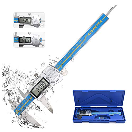 DricRoda Digital Caliper, Vernier Calipers Measuring Tool Stainless Steel Caliper, 0-6 Inch Measuring Tools with Display Inch/Metric Conversion