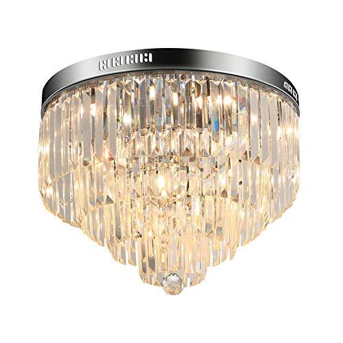 Kristall Deckenleuchte Deckenlampe Modern Deckenbeleuchtung für Wohnzimmer/Schlafzimmer Ø50cm