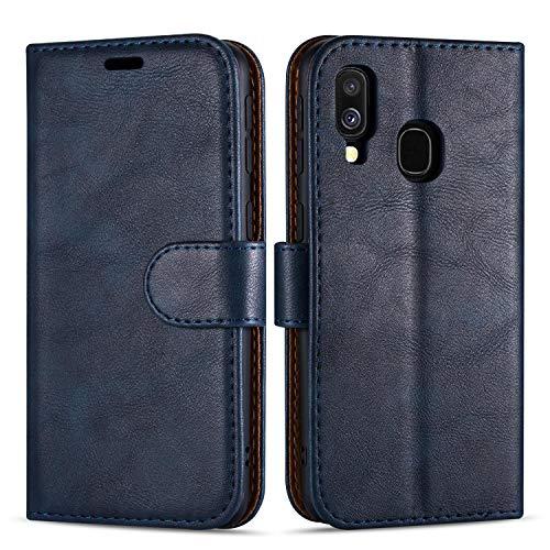 Hülle Collection Hochwertige Leder hülle für Samsung Galaxy A20e Hülle (5,8