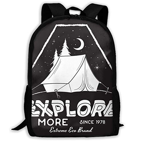 School Backpack Tent in The Night Sky and The Moon Bookbag Casual Travel Bag for Teen Boys Girls