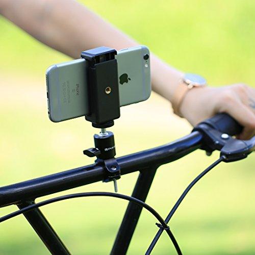 Nuevo soporte de adaptador de cabeza esférica de trípode de manillar de bicicleta for GoPro NUEVO HERO / HERO7 / 6/5/5 Sesión / 4 Sesión / 4/3 + / 3/2/1, DJI New Action, Xiaoyi y otras cámaras de acci