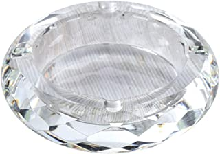 Ashtray Crystal Glass Creative Ashtray for Hotel Home Crafts (Color : Clear)