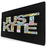 Großes dekoratives Gaming-Mauspad,Surfer Just Kite Surf,lange Computermausmatte mit rutschfester Gummibasis für Büro/Spiele/Zuhause