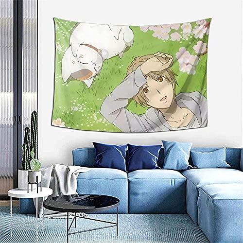 Natsume s Book of Friends tapiz de anime para colgar en la pared, tapices de manga, manta de arte de pared para fiesta, dormitorio, decoración del hogar, 40 x 60 pulgadas