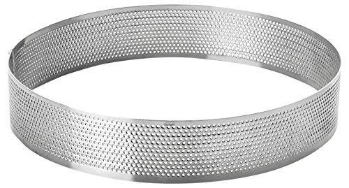 Lacor 68544–Stampo Cerchio Rotondo perforato, 24x 2cm, colore: grigio