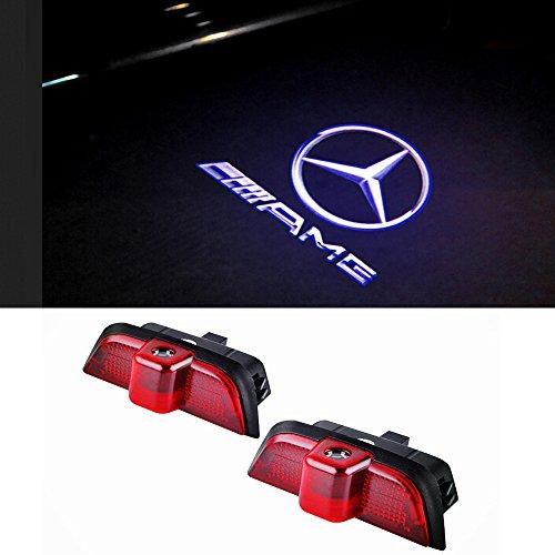 Preisvergleich Produktbild ZNYSTAR Car Lampe der lampe der Tür Ghost Shadow Willkommen Licht Einstiegsbeleuchtung Türbeleuchtung1 Paar (Benz C AMG)