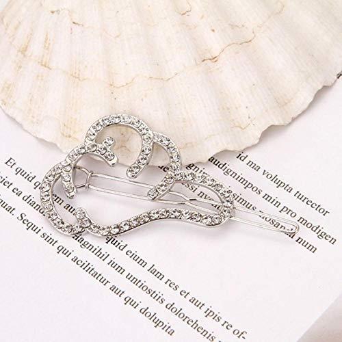 1 stuk chic kristal strass haarspeld haarspeld ster ronde vorm vrouwen haarspelden haarstyling accessoires 2