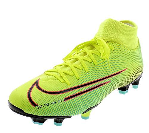 Nike Superfly 7 Academy MDS FG/MG, Zapatillas de fútbol Hombre, Lemon Venom/Black/Aurora Green, 43 EU