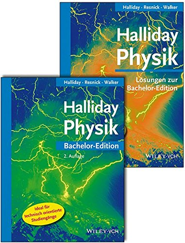 Halliday Physik Bachelor Deluxe: Lehrbuch mit Lösungsband