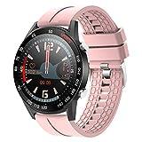 TWFJEL Smartwatch, Fitness Armband Tracker Voller Touch Screen Uhr IP68 Wasserdicht Armbanduhr Smart Watch mit Schrittzähler Pulsmesser Stoppuhr für Damen Kinder Sportuhr für iOS Android,Rosa