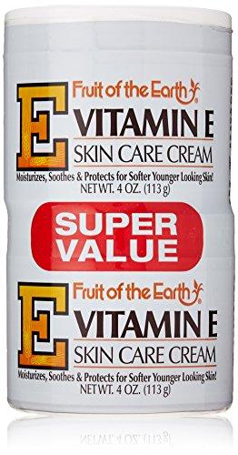 Fruit of the Earth Fruit de la Terre Bogo Crème vitamine E 4 Jar Ounce (118ml) (6 Pack)