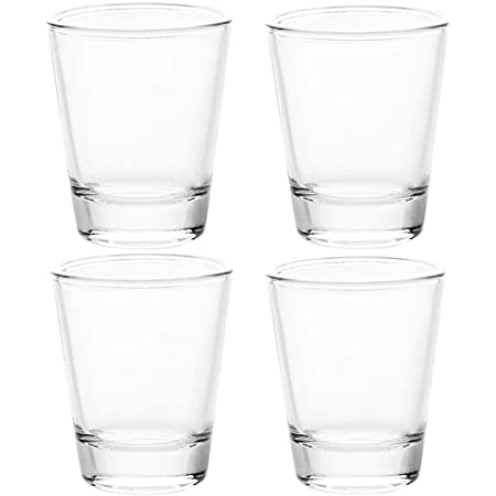 1.5 oz Shot Glasses Sets with Heavy Base, Clear Shot Glass (4 Pack)