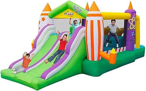 Toboggans Chateau Gonflable Trampoline pour Enfants Escalade d'obstacles Maison De Jeux Extérieure pour Enfants Petite Aire De Jeux Grands Jouets Domestiques Donnez à Votre Enfant T