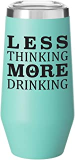 Stainless Steel Stemless Adult Sippy Cup with Lid   Double Wall Copper Vacuum Insulated   Gift Idea for Any Occasion   9 Ounce Tumbler with Funny Saying (Matte Seafoam Mint)