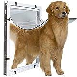 Puerta magnética para mascotas Big Dog Door Extra Large Pet Hole Hole Golden Hair Collie Rottweiler Perro grande dentro y fuera de la (Tamaño exterior XL: 59 * 43 * 5 cm,tamaño interior: 50,5 * 38 cm)