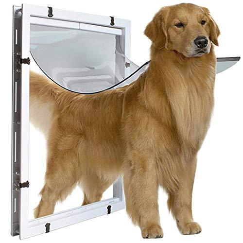 Porta per cani di grossa taglia Porta per animali domestici extra large Buca per capelli dorata Collie Rottweiler Cane grande (Dimensioni esterne XL: 59 * 43 * 5 cm,dimensioni interne: 50,5 * 38 cm)