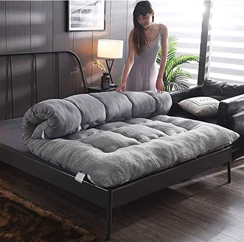 LUGEUK Colchón futón colchón de Tatami japonés, colchón Suave de qui-Cosido 10 cm for Dormitorio de Estudiantes, Familia, Cama, Piso, Cama Doble Cama Individual Reina Reina, Plegable